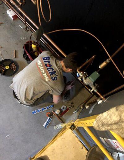 Brock Tech during Repairs