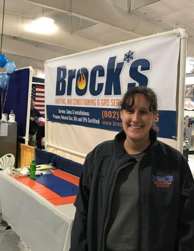 Nikole Brock at a Tradeshow